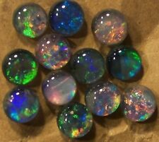 12 AUSTRALIAN OPAL TRIPLETS  4mm  2.8 carats  Callibrated B+ grade