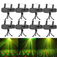 8PCS Starry Sky Laser Projector Stage Lights LED RG Party KTV DJ Disco Light