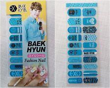 EXO Baek Hyun Fashion Nail Art Sticker  KPOP Star Gift New baekhyun