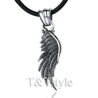 Quality TT 316L Stainless Steel Angel Wing Pendant Necklace Mens & Womens(NP122)