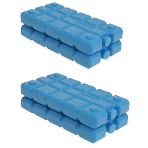 Pack Of 4 Freezer Blocks For Cool Bags Ice Boxes New Blue Picnics Lunch Travel