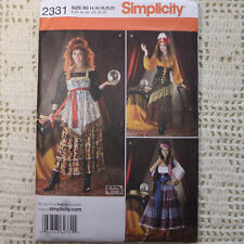 Simplicity 2331 Gypsy Costume Sewing Pattern 3 looks 14-22 New uncut
