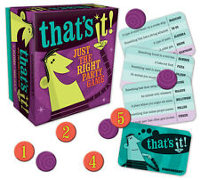 THAT'S IT! JUST THE RIGHT PARTY GAME - FUN FAMILY PARTY WORD TRIVIA GAMEWRIGHT