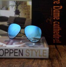 Ray-Ban Sunglasses Aviator RB3025 002/4O  Black / Blue Gradient Flash Lens 58mm