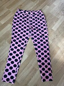 Ladies Pink With Black Spots Pyjama Leggings From Jd Williams Size 16-18