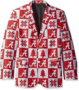 Alabama Crimson Tide Super Fan Sport Coat Jacket Size M (44) Ugly Christmas _S5