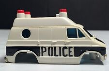 1978-79 AURORA AFX 4-Gear Chassis DODGE VAN POLICE VEHICLE #1946 Bk/Wh Body Only