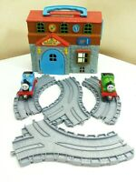 Thomas & Friends Take Along Sodor Engine Work Engine Wash Playset With Trains