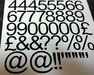 """4"""" inch (100mm) Letters Numbers Self Adhesive Vinyl Lettering Stickers Decals"""
