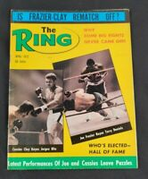 VTG Boxing The Ring Magazine April 1972 Joe Frazier Muhammad Ali Rematch Cover