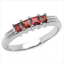 Damen Ring Xenia, 925 Silber, 0,48 Kt. Granat, Gr. 55