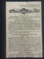 Original USSR WW 2 Surrender Leaflet Dropped on German Troops Safe Passage