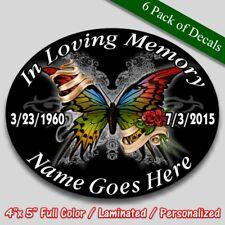 In Loving Memory vinyl decal full color Butterfly theme Memorial sticker