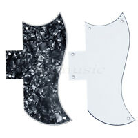 2 Pieces Pickguard 3ply Electric Guitar Scratch Plate for SG Guitar Parts