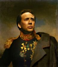 "100% Hand Painted Portrait Oil Painting on Canvas/General ""Nicolas Cage"""