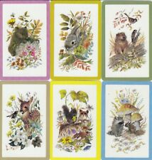 VINTAGE SWAP PLAYING CARDS - 6 SINGLE - RABBITS