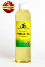 HAZELNUT OIL ORGANIC by H&B Oils Center COLD PRESSED PREMIUM 100% PURE 8 OZ