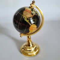 "Mini Desk Globe Semi Precious Gem Stones (5"" Total Height)"