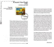 2004- VINCENT  VAN  GOGH -  SUR NOTICE   OBLITÉRÉ A LA DATE DU   PREMIER JOUR
