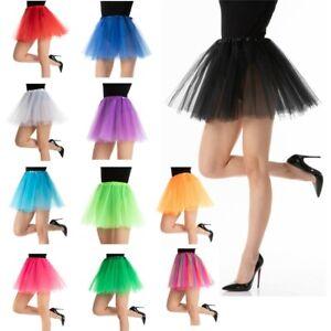 TUTU Skirt Ladies Dance Party Ballet Fancy Dress Petticoat 3 Layers Costume Lot