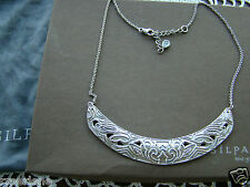 "Curve"" Necklace N3110 New! $149 Silpada Sterling Silver ""Ahead of the"