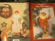 Merry Olde Santa Painting Book-Barbara Shores-Angels/Hand Ornaments
