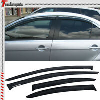 For 08-17 Mitsubishi Lancer Sedan 4dr Shade Rain Window Visors Slim Smoke Guard