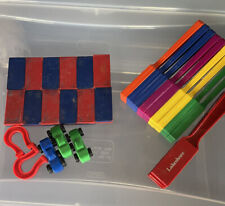 Lakeshore Magnet Bricks Set Of 12, 12 Wands, 3 Cars, 2 Horseshoes Lot Pre-Owned