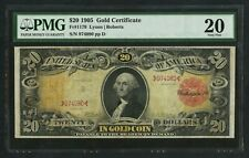 "FR1179 $20 1905 GOLD NOTE ""TECHNICOLOR"" PMG 20 VF+ WLM9520"