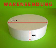 Styropor-Scheibe Ø 15 Höhe 5 cm Torte Rohling Dummy Hochzeit Cake Grundlage rund
