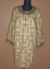 VICTOR COSTA KHAKI Colored Embroidered Beaded Linen Duster Jacket Size 1X NWT