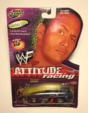 "1999 WWE/WWF ROAD CHAMPS 1/64th scale ""The ROCK"" ATTITUDE RACING [MOC]"