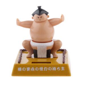1pc Japanese Sumo Wrestler Dancing Solar Power Bobble Head Toys Figurine