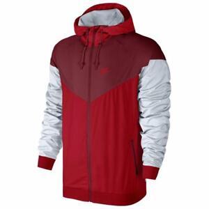 Nike Air Sportswear Windrunner Windbreaker Track Red Jacket Men's Size S-3XL New