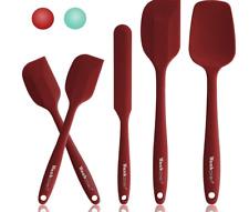 5 Pièces Rouge Spatule de Cuisine en Silicone sans Bpa, Spatule Silicone