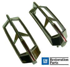 1968-1972 Oldsmobile Cutlass F-85 4-4-2 Quarter Window Chrome Retainer Sash-Pair