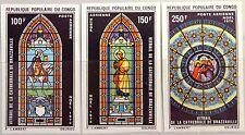 KONGO BRAZZAVILLE 1970 269-71 U C104-06 Weihnachten Christmas Religion Kunst MNH