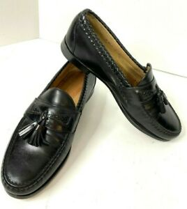 Allen Edmonds Maxfield Tassel Loafer Men's 11 D Black Leather Shoe