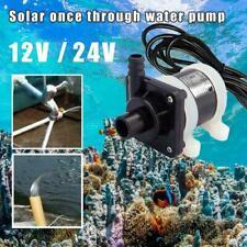 700L/H Solar Brushless Motor Water Circulation Submersible 12V/24V Pump Us C9F3