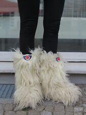 Saba Tognola italia Fellstiefel Stiefel TRUE VINTAGE Yeti Fur Boots Apres Ski 39
