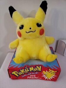"""1998 Pokemon Pikachu Plush 8"""" Stuffed Toy Nintendo Game Freak NEW Hasbro Vintage"""