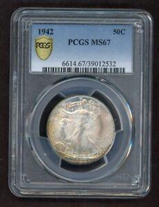 1942 Walking Liberty Half Dollar Silver 50C PCGS MS67