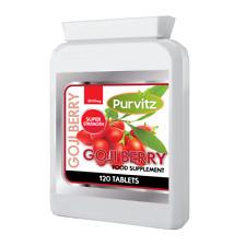 Goji Berry 2000mg 120 Tablets High Strength Extract Antioxidant Immune Purvitz