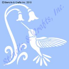 HUMMINGBIRD STENCIL BIRD BIRDS FLOWER STENCILS TEMPLATES ART TEMPLATE CRAFT NEW