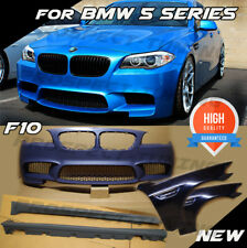 BMW M5 STYLE BODYKIT F10 COMPLETE FRONT CONVERSION WINGS 2010+  525d 530d 535d