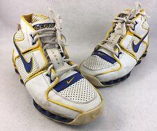 Nike Shox Allgaier Mens Basketball Shoes Yellow Blue White Size 7.5