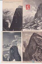 Lot 4 cartes postales anciennes CHAMONIX MONT-BLANC le brévent 3
