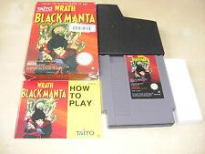 Wrath of the Black Manta NES GIOCO COMPLETO DI SCATOLA ORIGINALE E ISTRUZIONI