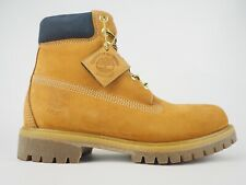 Mens Timberland Heritage 6 Inch Premium A1VXW Wheat Leather Lace Up Boots