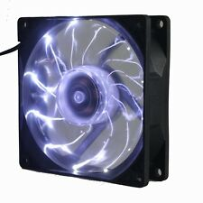 90mm Gorgeous White LED Light Neon 12V 92mm x 25mm 3Pin Computer Cooling Fan
